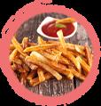 frites maison ketchup